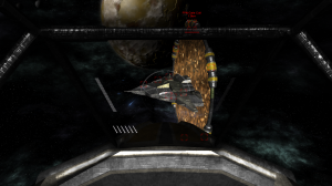 An FPN cruiser opens fire as it slowly emerges from a Colossal Gate.